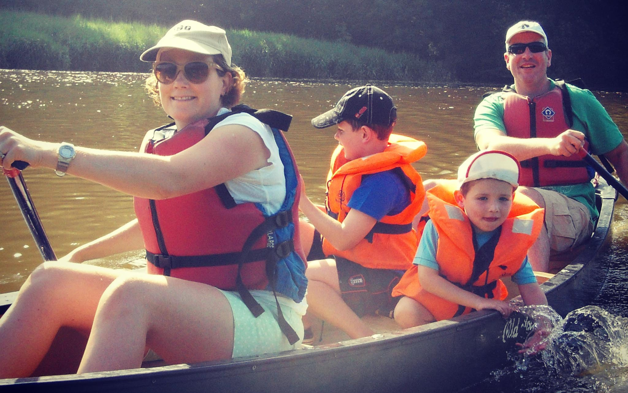 Canoe tamar trip family outdoor activities treesurfers