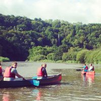 guided family canoe trip tamar