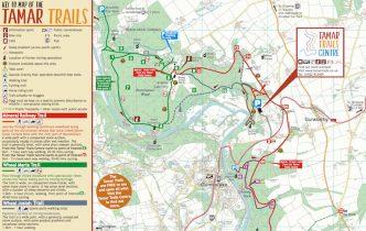 Tamar Trails map image
