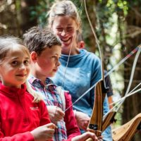 Family archery at the Tamar Trails