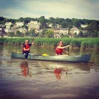 Canoeing on the Tamar