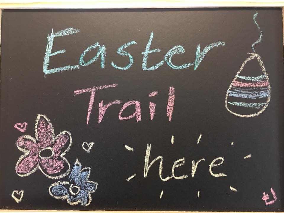easter egg woodland trail