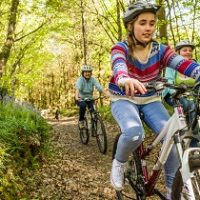 Family bike trails near Plymouth